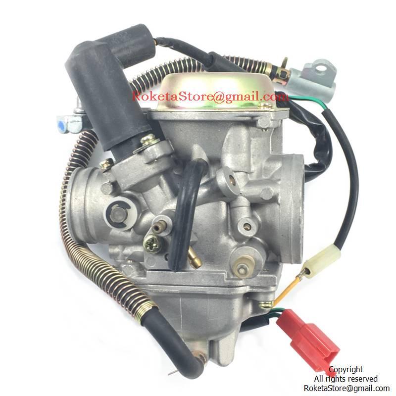 Pd30 Carburetor With Electric Choke Dual Bracket  U00bb Roketa Parts Online