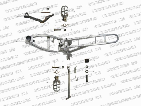 AGB-37CRF-125-01 FRAME ASSEMBLY