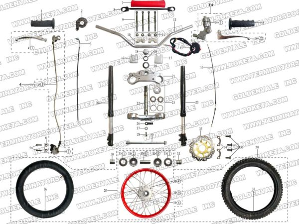 AGB-37CRF-125-05 STEERING ASSEMBLY