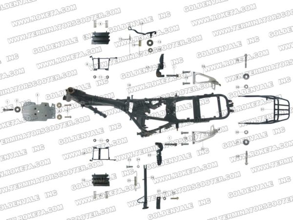 DB-08-250-01 Frame Parts list