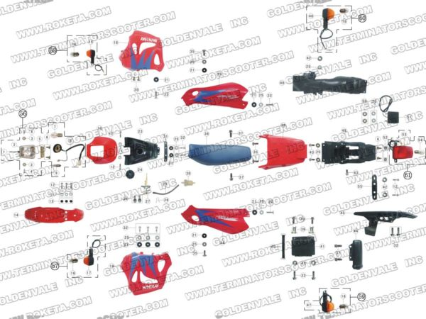 DB-08-250-03 BODY PARTS LIST