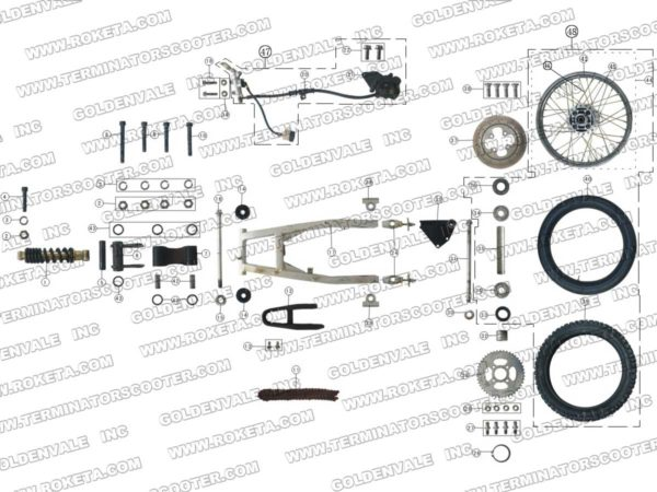 DB-08-250-04 Rear Wheel Assy