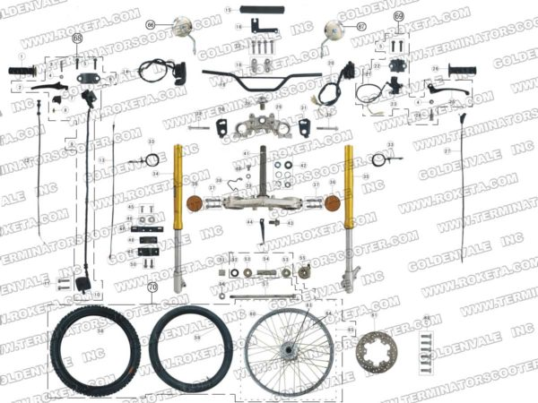 DB-08-250-05 STEERING ASSEMBLY PARTS