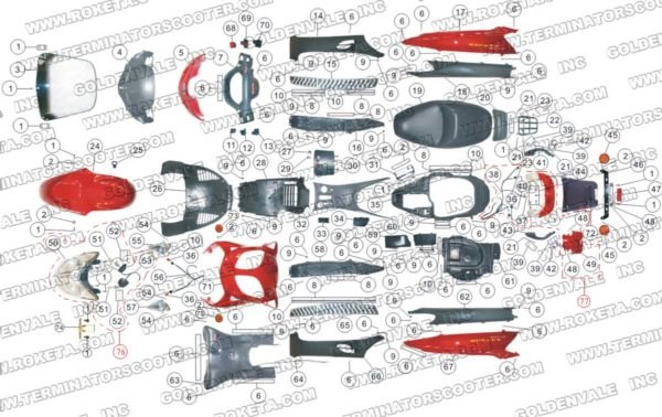 MC-13-150-04 COVERING PARTS ASSEMBLY