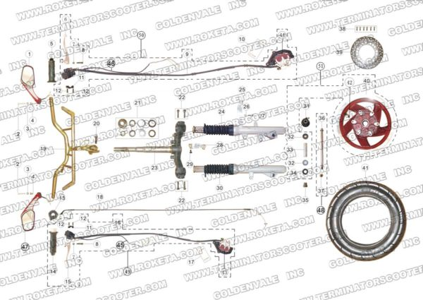 MC-13-150-05 STEERING ASSEMBLY